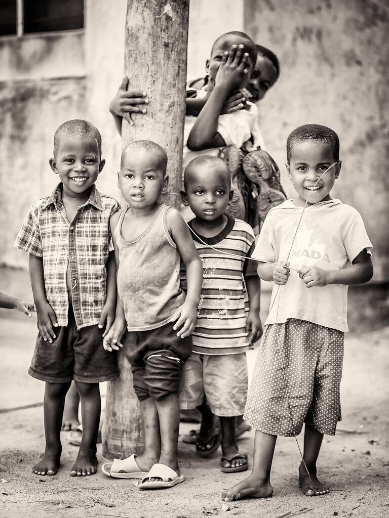 Børn i Afrika BW series 1